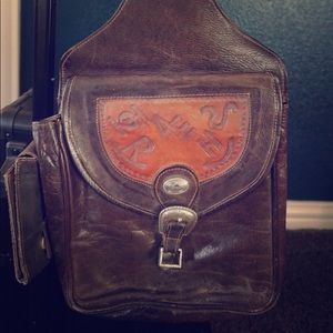 Vintage American West Saddle Bag